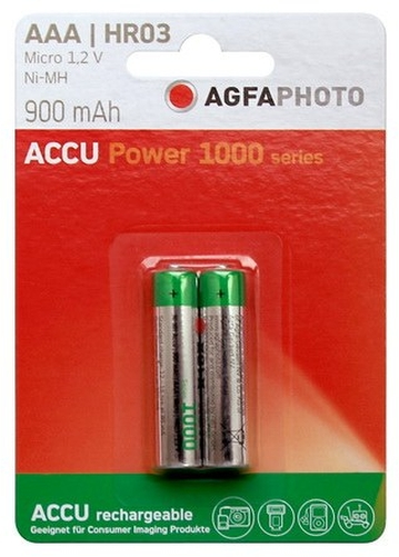 Akku-AAA-R03-900-mAh-1-2-V-Micro-AgfaPhoto-Battery-R3-Batterie-Accu-Power