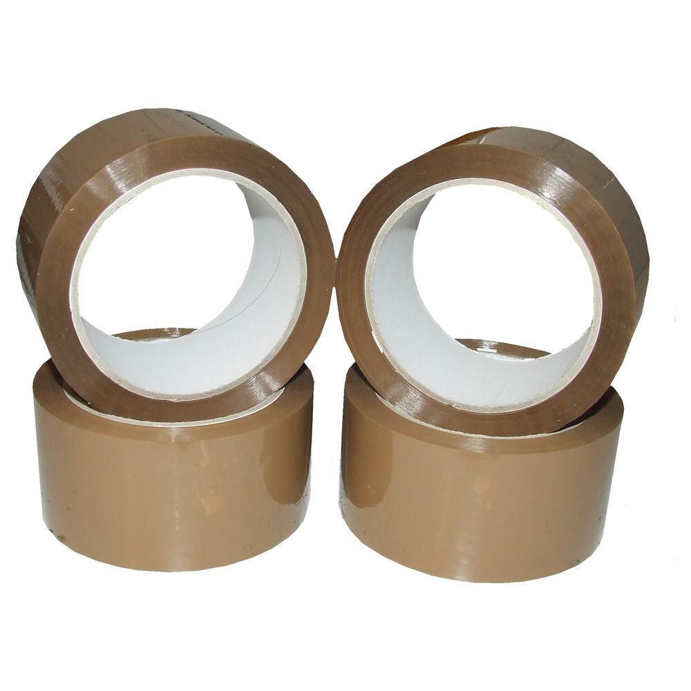 12-Rollen-a-66m-Klebeband-Packband-Klebeband-braun-48mm-breit